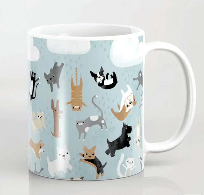 Raining Cats and Dogs Cup Design