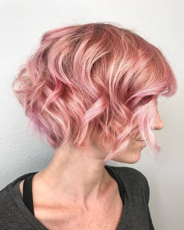 Soft Pastel Pixie Cut For Wavy Hair