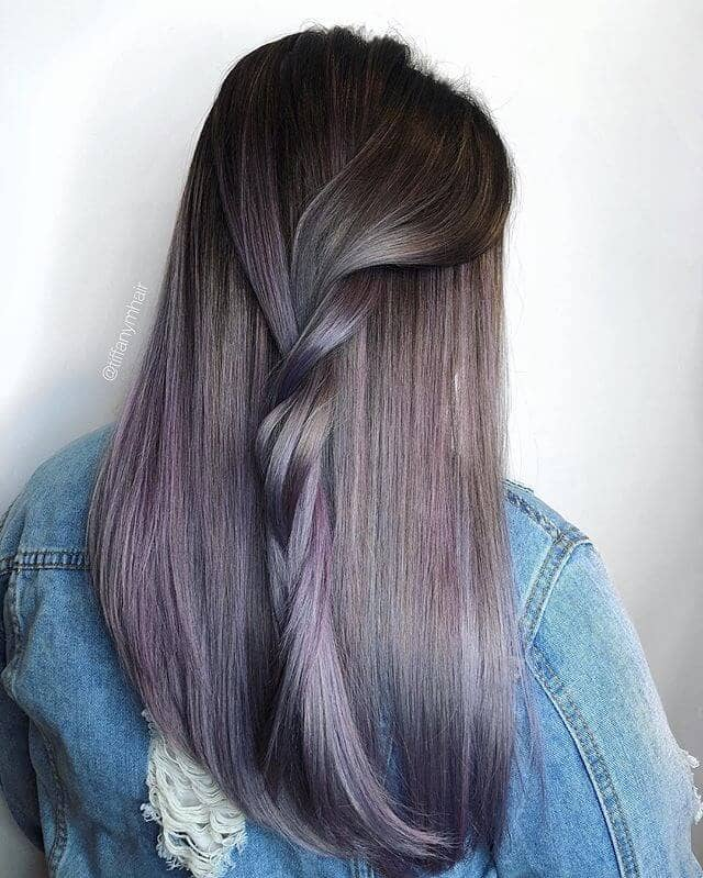 Lovely Lilac and Muted Plum Hair Twist