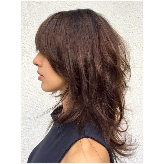 Modern Shag with Parted Bangs