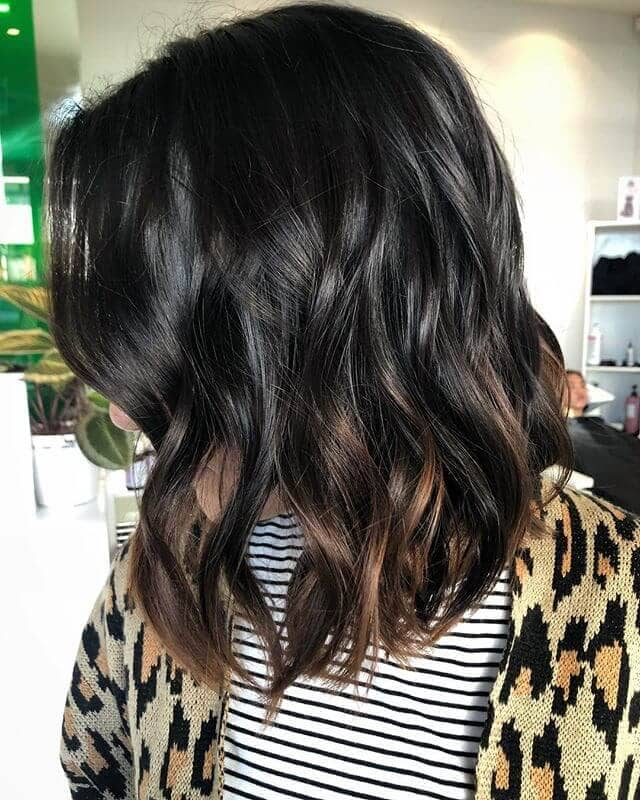 Wavy Lob with Dip-dyed ends