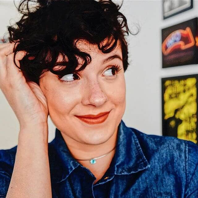 Unique Curly Pixie Cut With Bangs