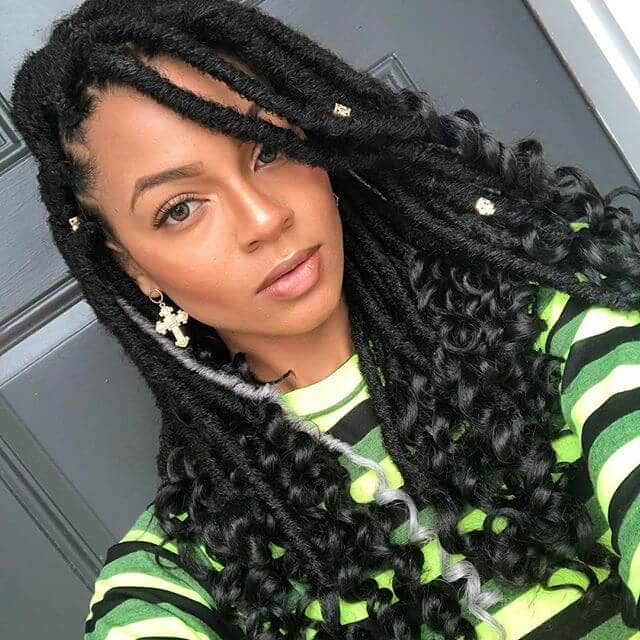 Large Half Done Twists with Curled Ends