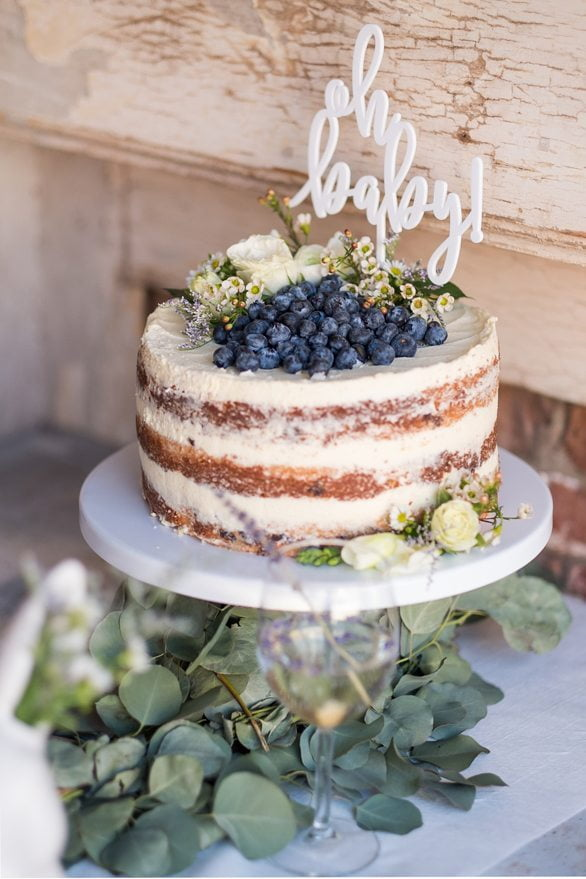 Rustic Crumb Coated Three-Tier Cake with Berries
