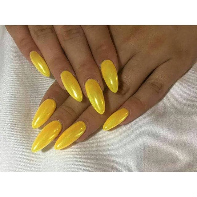 Simple and Bright Yellow Acrylics