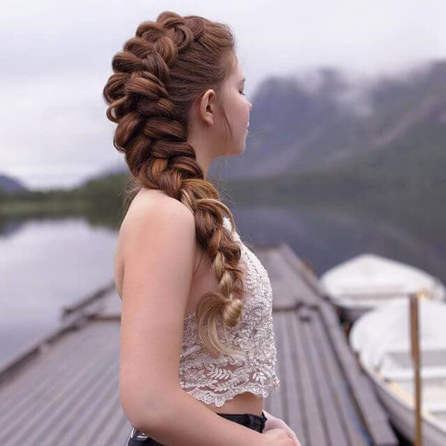 Long Inverted French Braid With Big Volume
