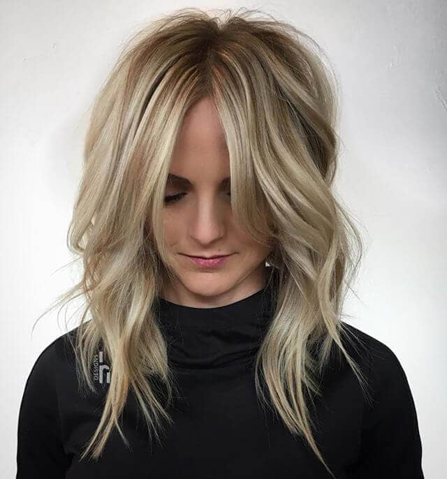 Bombshell Blonde Layered Shag Cut and Style