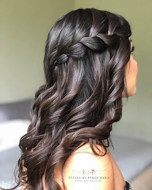 Pretty Waves Beneath A Braided Crown