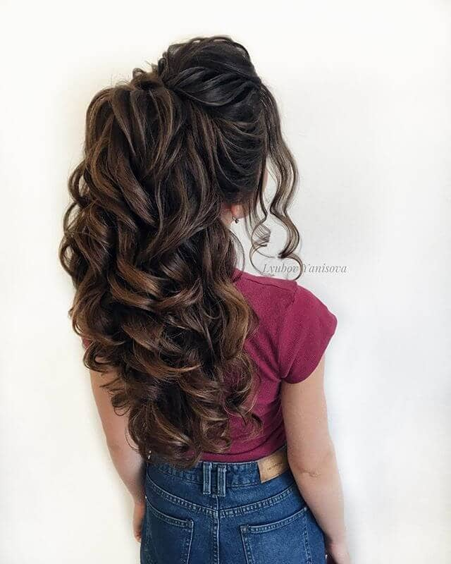 Waterfall Curls For a Mermaid Bride