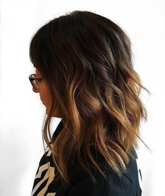 Cute, Blunt Angled Layered Shag Style