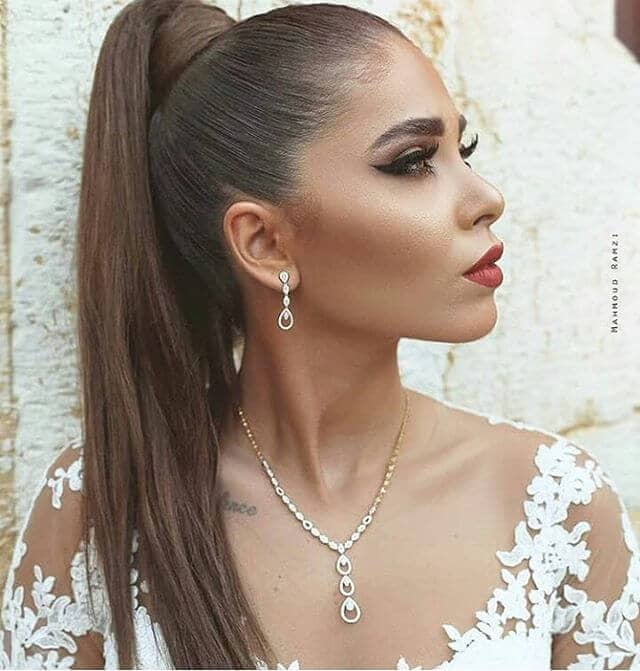 Glam And Sleek High Ponytail With Wraparound
