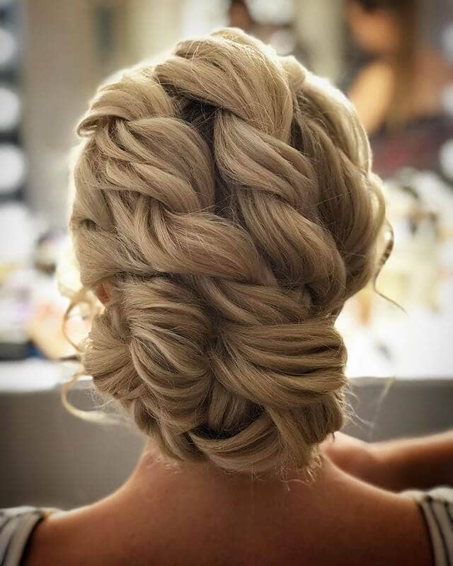 Multi-Layered Twist Braids For Low Bun
