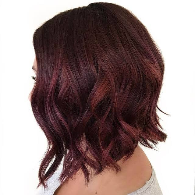 Scoring A+ with a Burgundy Hair A-line