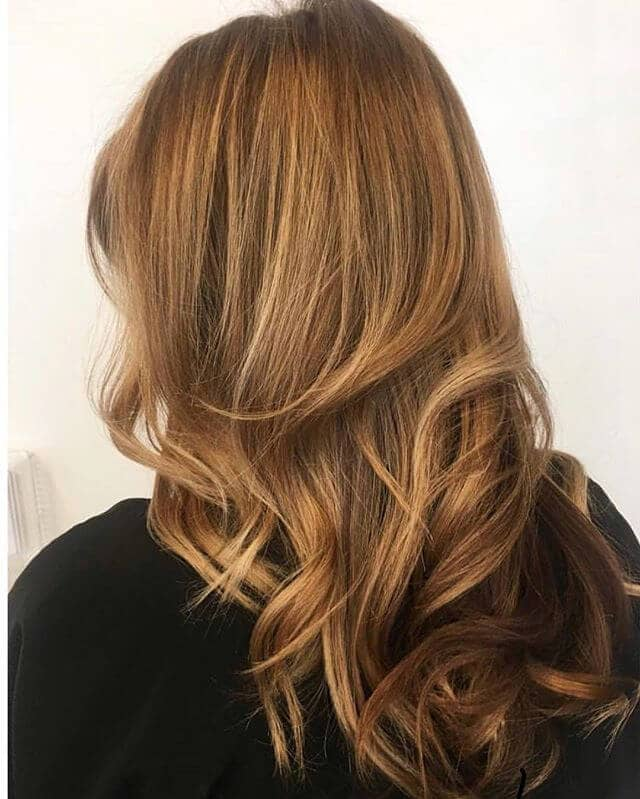 Auburn and Honey Blonde Medium Length Layers