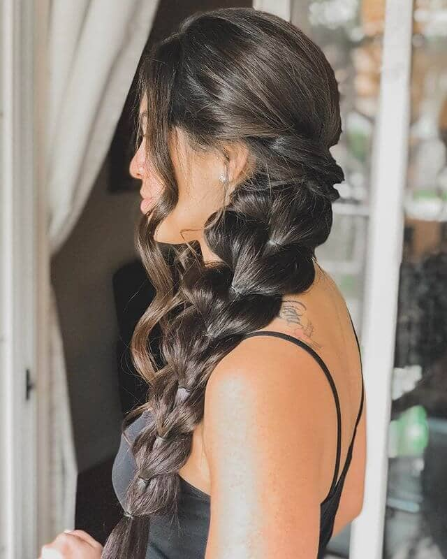 Pretty Pull-Through Braid And Curly Bangs