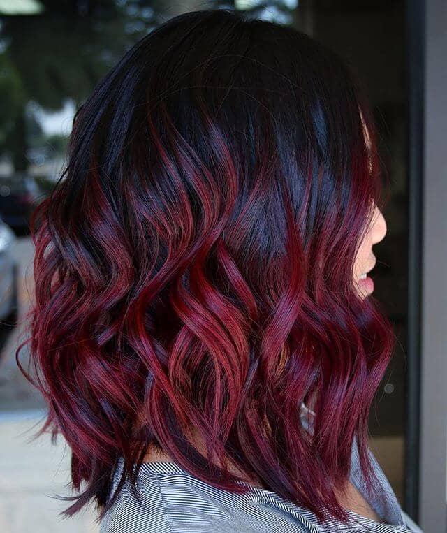 Touseled Curls for Burgundy Girls