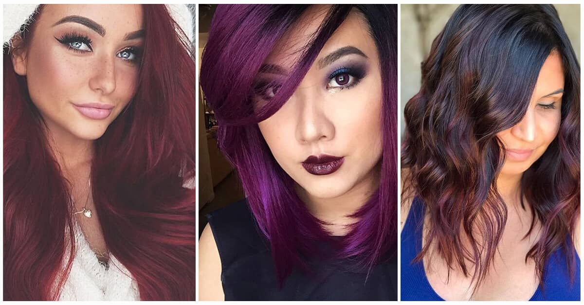 50 Hot Shades Of Burgundy Hair To Rock Fall Of 2020