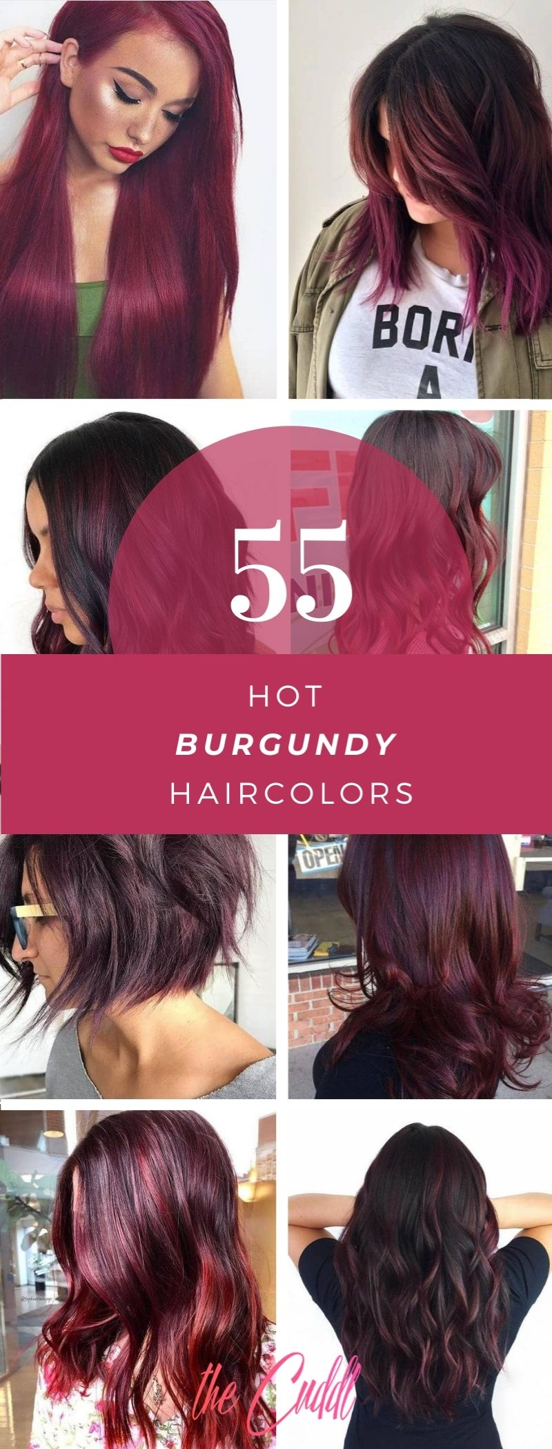 50 Cozy-Chic Burgundy Hairstyle to Make a Modern Update to Your Look