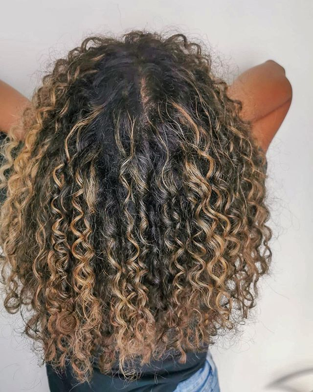 Tight Bouncy Curly Ombre Hair