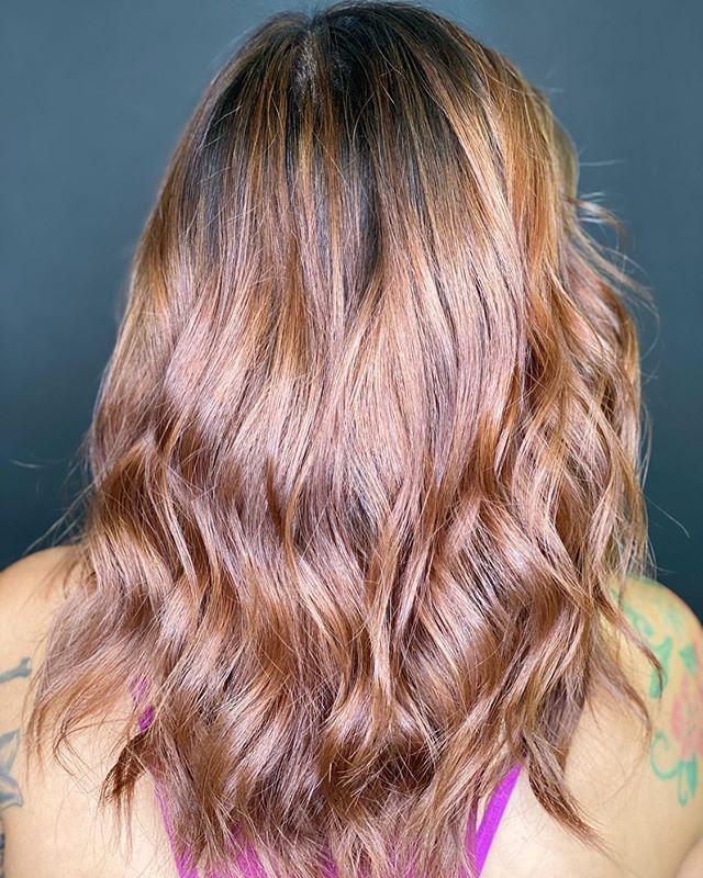 Orange Pink Mermaid Curled Hair