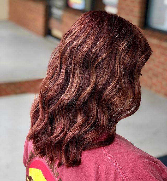 Auburn Hair With Soft Waves