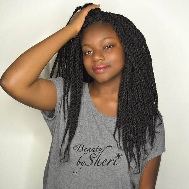 Senegalese Twists with Kinky Marley Hair