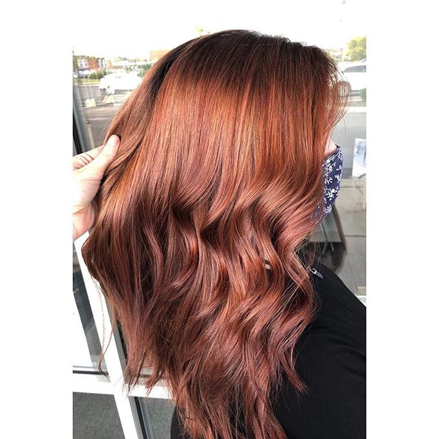 Chestnut Brown And Auburn Ombre Hair
