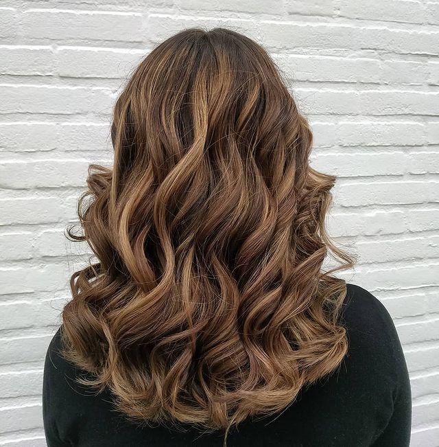 Caramel Light Brown Knotted Bun Hair