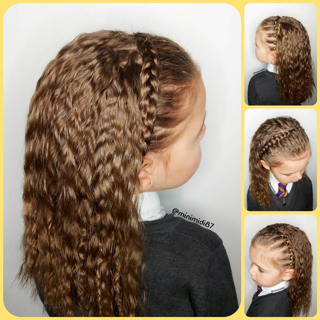 Braid Hair Band Hairstyle Design with Natural Waves