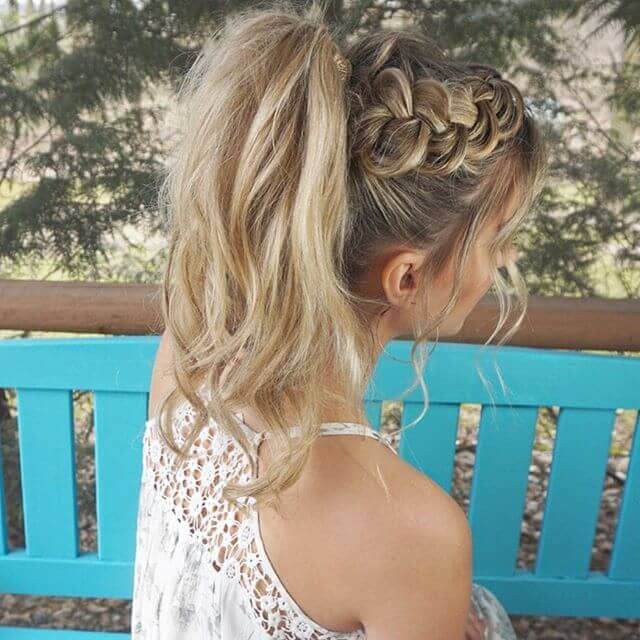 Pretty High Pony Hairstyles With Braid Accents