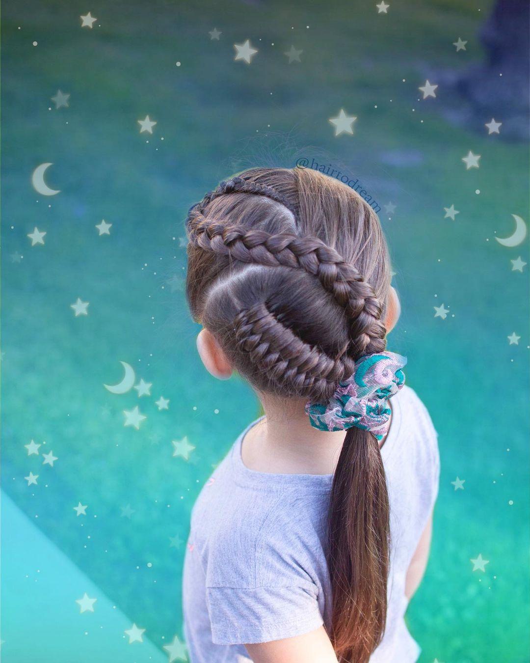 Princess Neat Snake Braid Hairstyle
