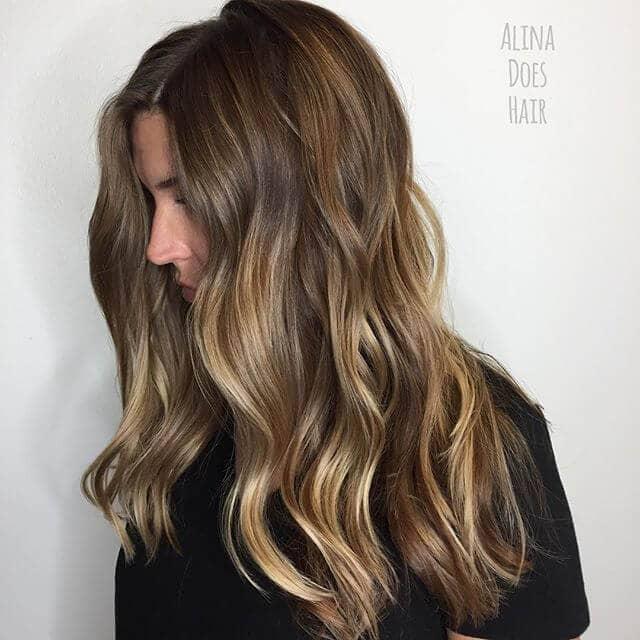 Pretty Light Brown Balayage Hair