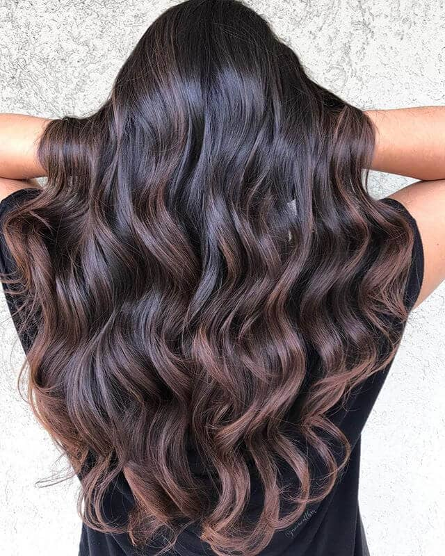 Hairstyle For Brown Hair With A Purple Haze