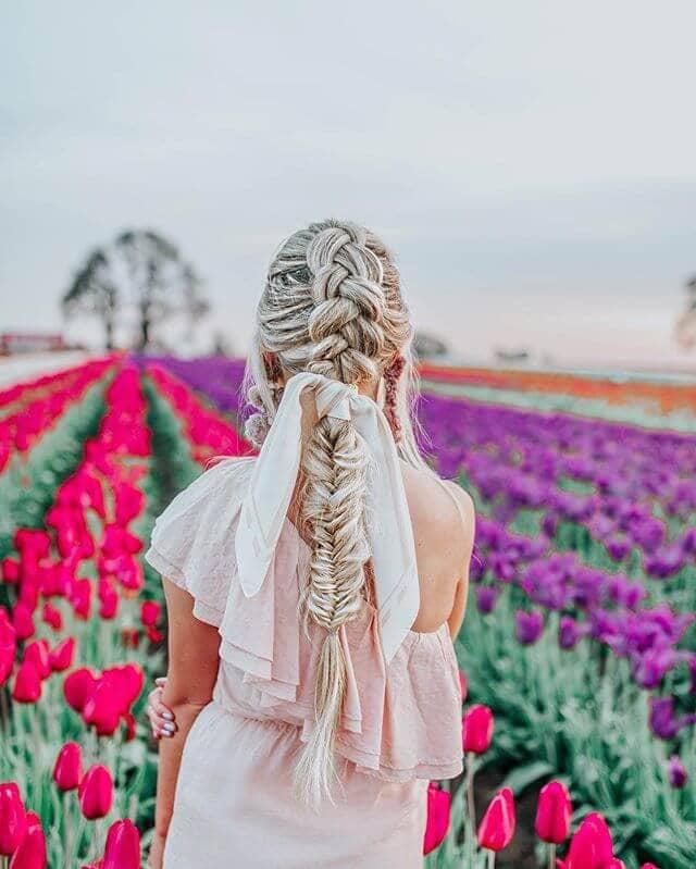 Beautiful Shifting Braid Ponytail Hairstyles