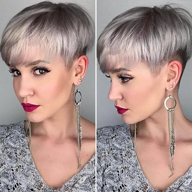 Gorgeous Dark Hair With Silver Highlights