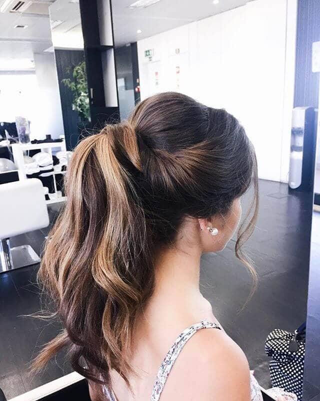 Raised Chignon-Flip Ponytail Hair Twist