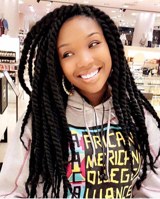 Long Twists with Kinky Marley Hair