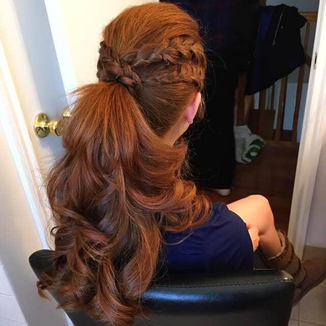 Fierce Double Braid Bound Ponytail Hairstyles