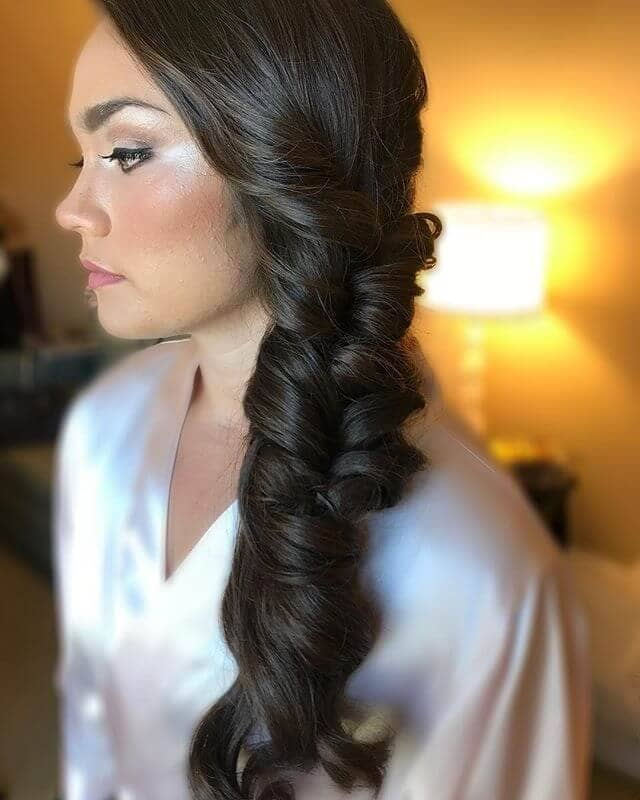 Twining Curls Side Ponytail Style