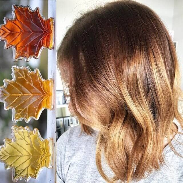 Feathery Lob with Varying Earth Tones