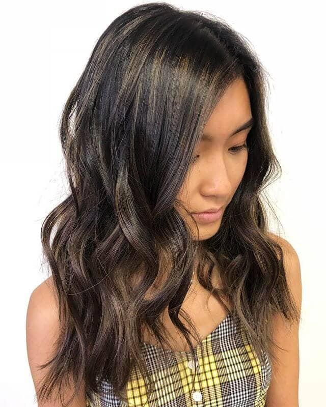 Subtle Ash-Toned Brunette Fall Hair Color