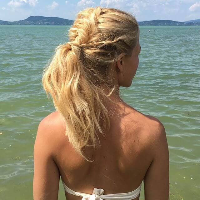 Beachy Triple Braid Beginning for Ponytail Hairstyles