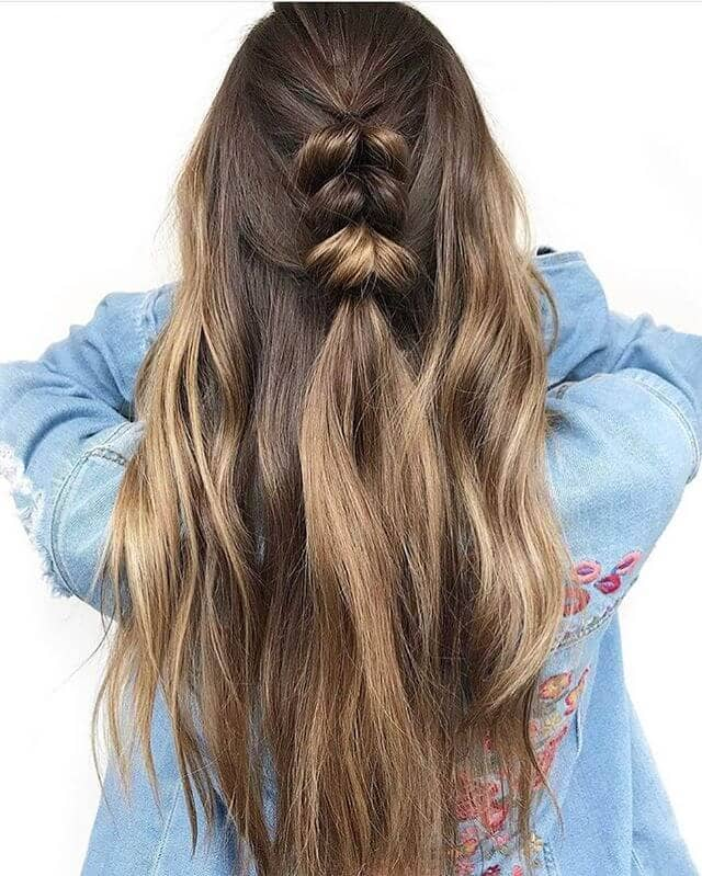 Long Hair With Unique Braid Detail