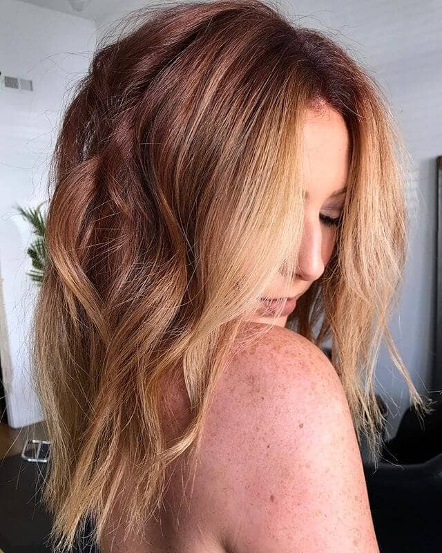 Sweet Strawberry and Honey Blonde Layers
