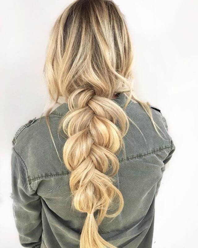Vikings Inspired Blond Chunky Braid