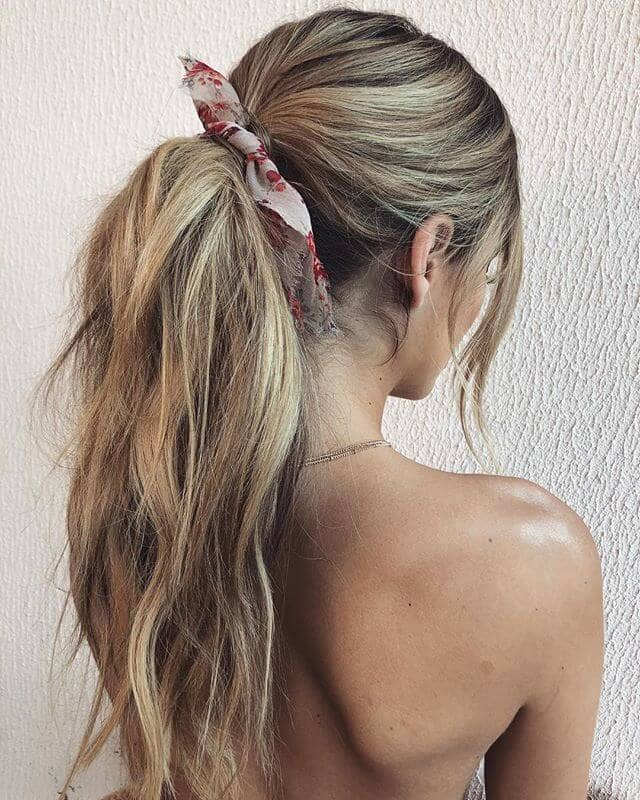 Quick and Cheery Color Splash Ponytail