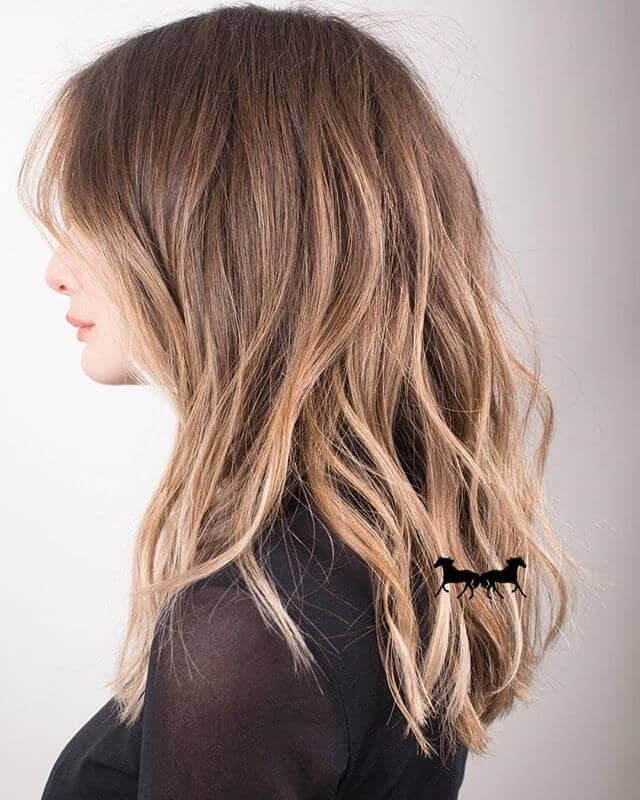 Platinum Blonde Balayage with Chestnut Roots