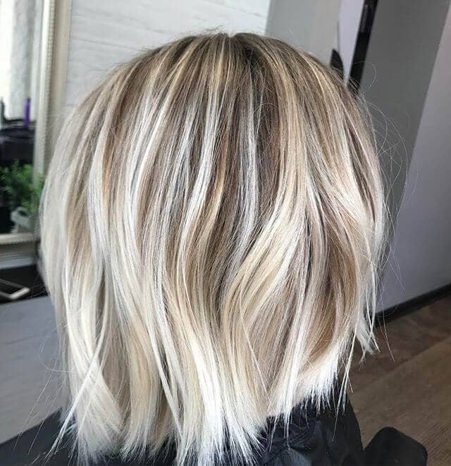 White Blonde With Gold And Silver Accents