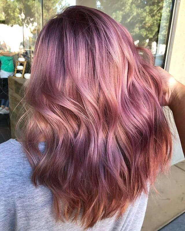 Rose and Lavender Unique Fall Color Idea