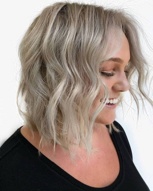 Silver Blonde With A Little Bit Of Wave